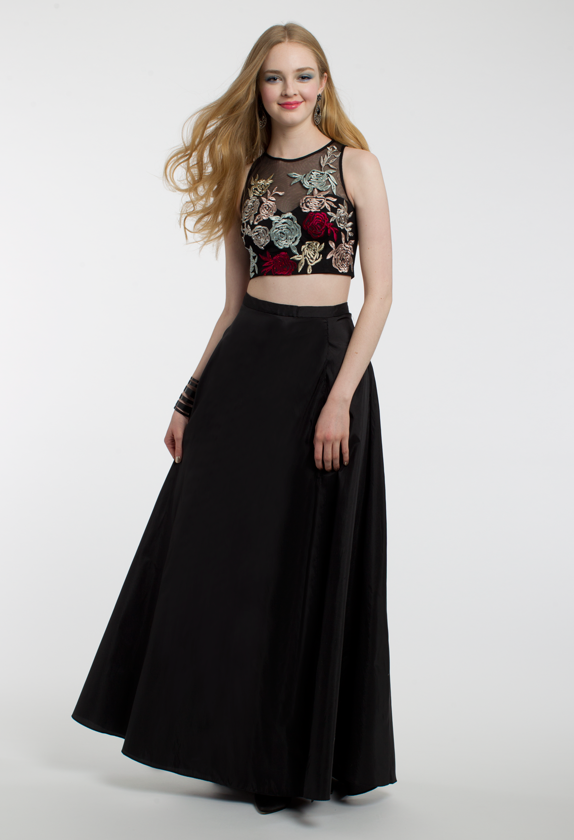 Say it with sheer in this exquisite formal evening gown the two
