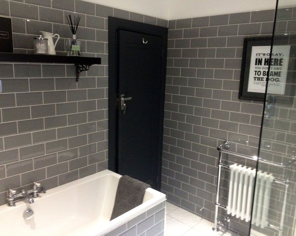 Edwards stylish grey bathroom metro tiles loft extensions edwards stylish grey bathroom metro tiles dailygadgetfo Image collections
