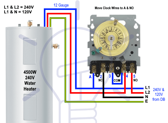 How To Toggle Electric Water Heater Between 120v And 240v In 2020