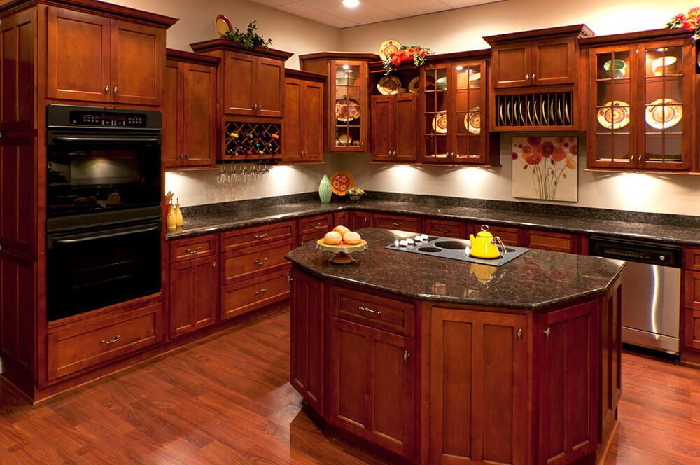 Cherry Shaker Kitchen Cabinets RTA Kitchen Cabinets Kitchen - Cherry vs maple kitchen cabinets