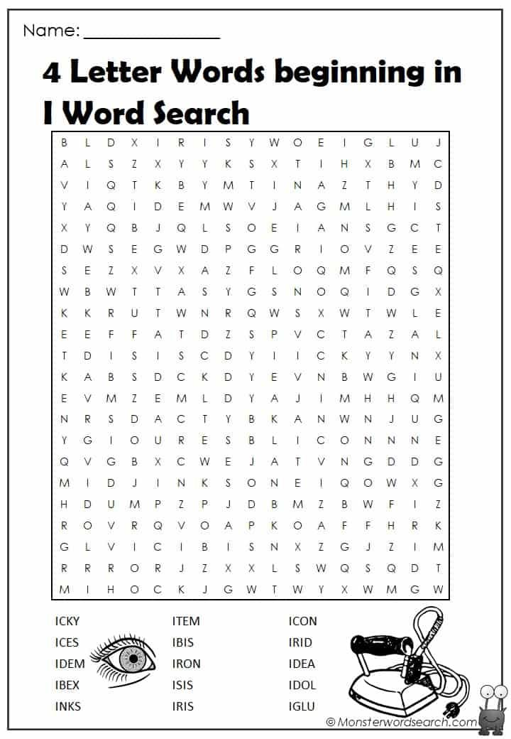 4 Letter T Words.4 Letter Words Beginning In U Word Search Monster Word