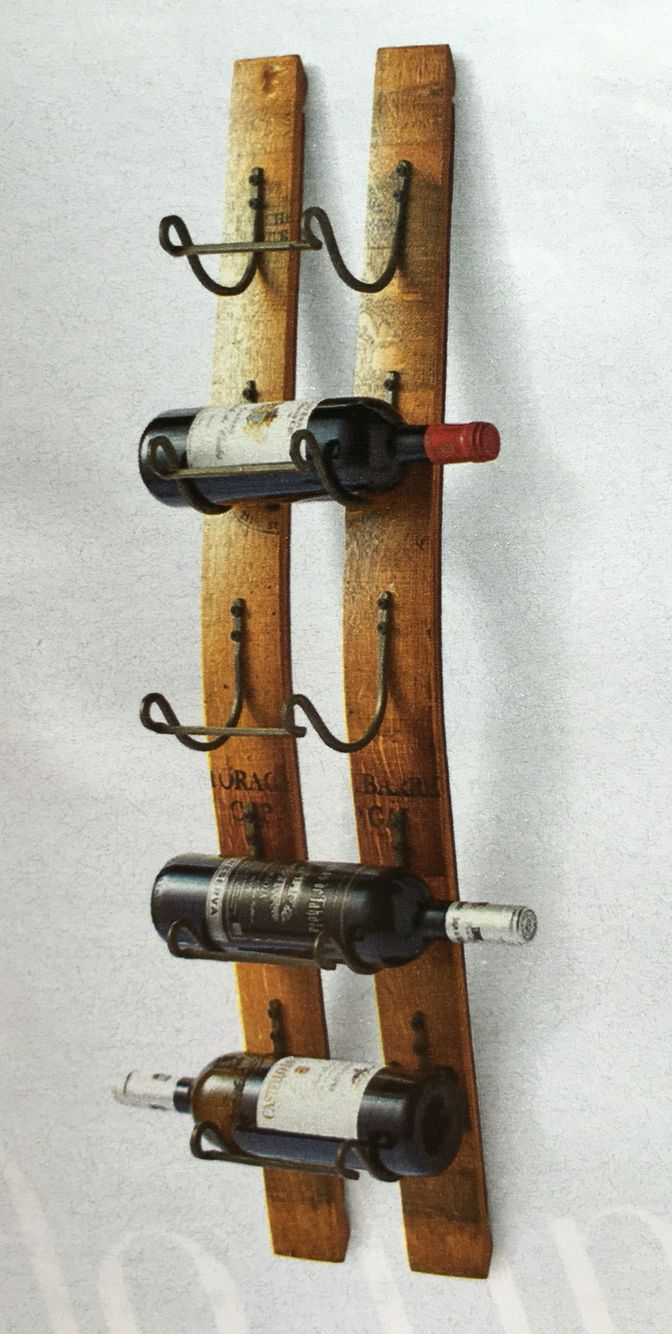 Reclaimed Wine Stave Wine Rack By Frontgate Whiskey