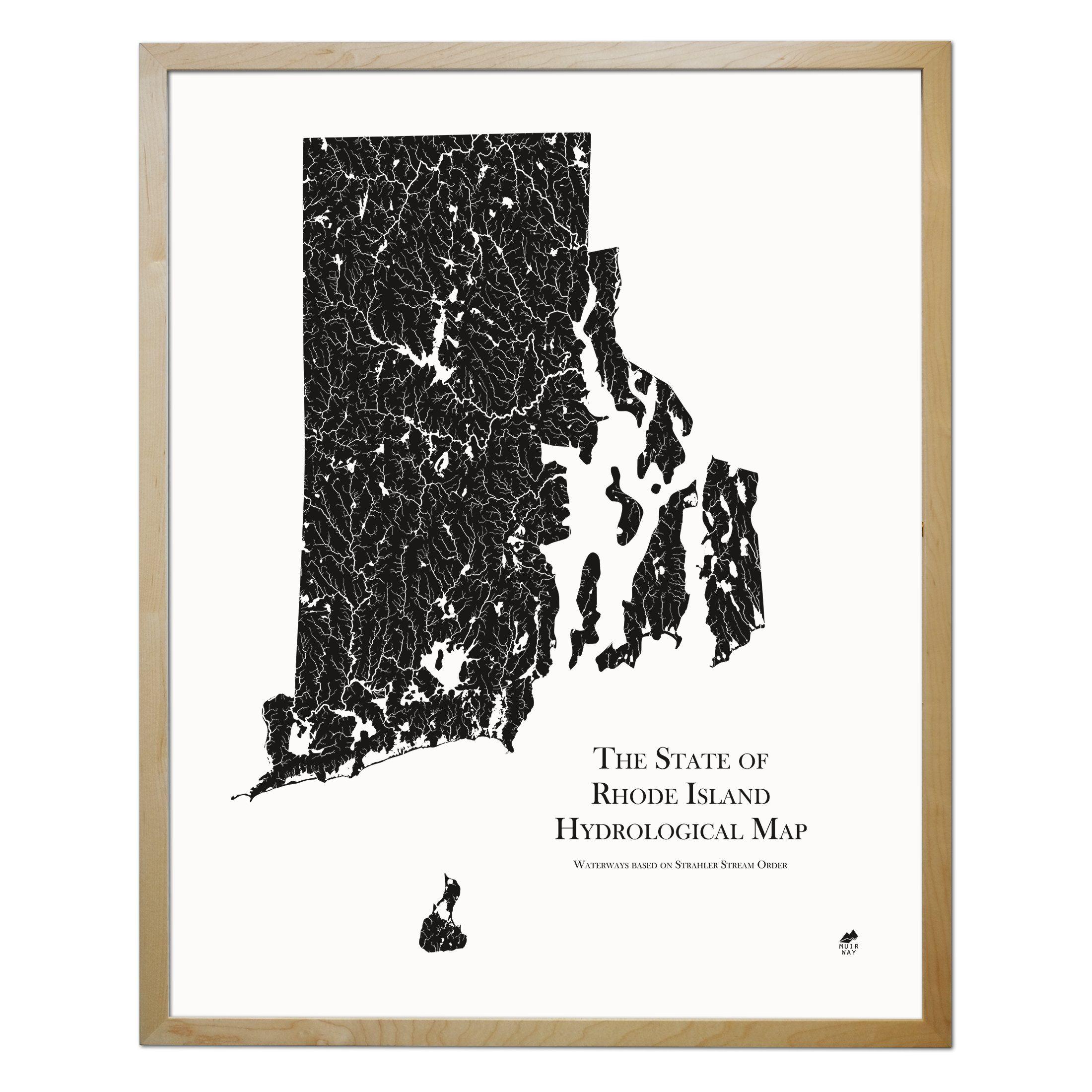 Rhode Island Hydrological Map