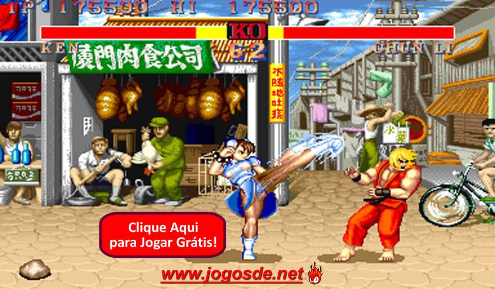 CLIQUE PARA JOGAR Street Fighter 2 Champion Edition no Click Jogos: escolha entre os 12 personagens do jogo de luta mais famoso do planeta e lute até zerar!