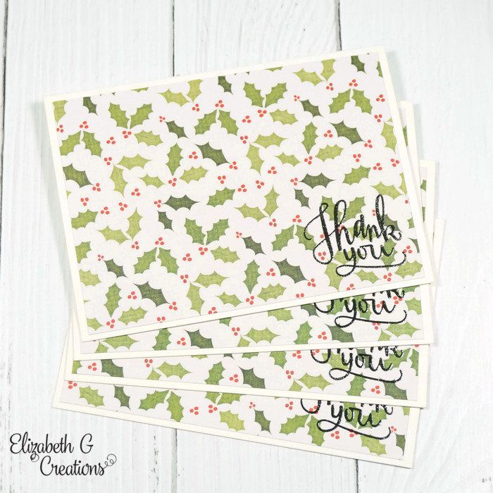 Christmas Thank You Cards, Thank You Christmas Cards, Country Chic