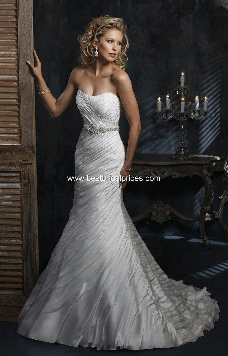 2bdbe5213bd Maggie Sottero Wedding Dress Annabelle Brand New Diamond White Size ...