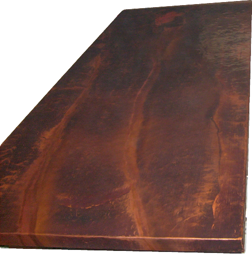 Hand Hammered Copper Countertop Patina Liver Of Sulfur