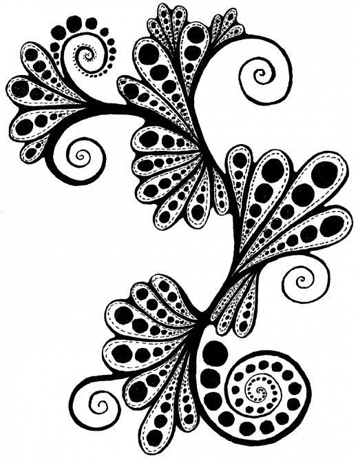 Cool patterns and designs to draw paisley fairies for Designs for drawing easy