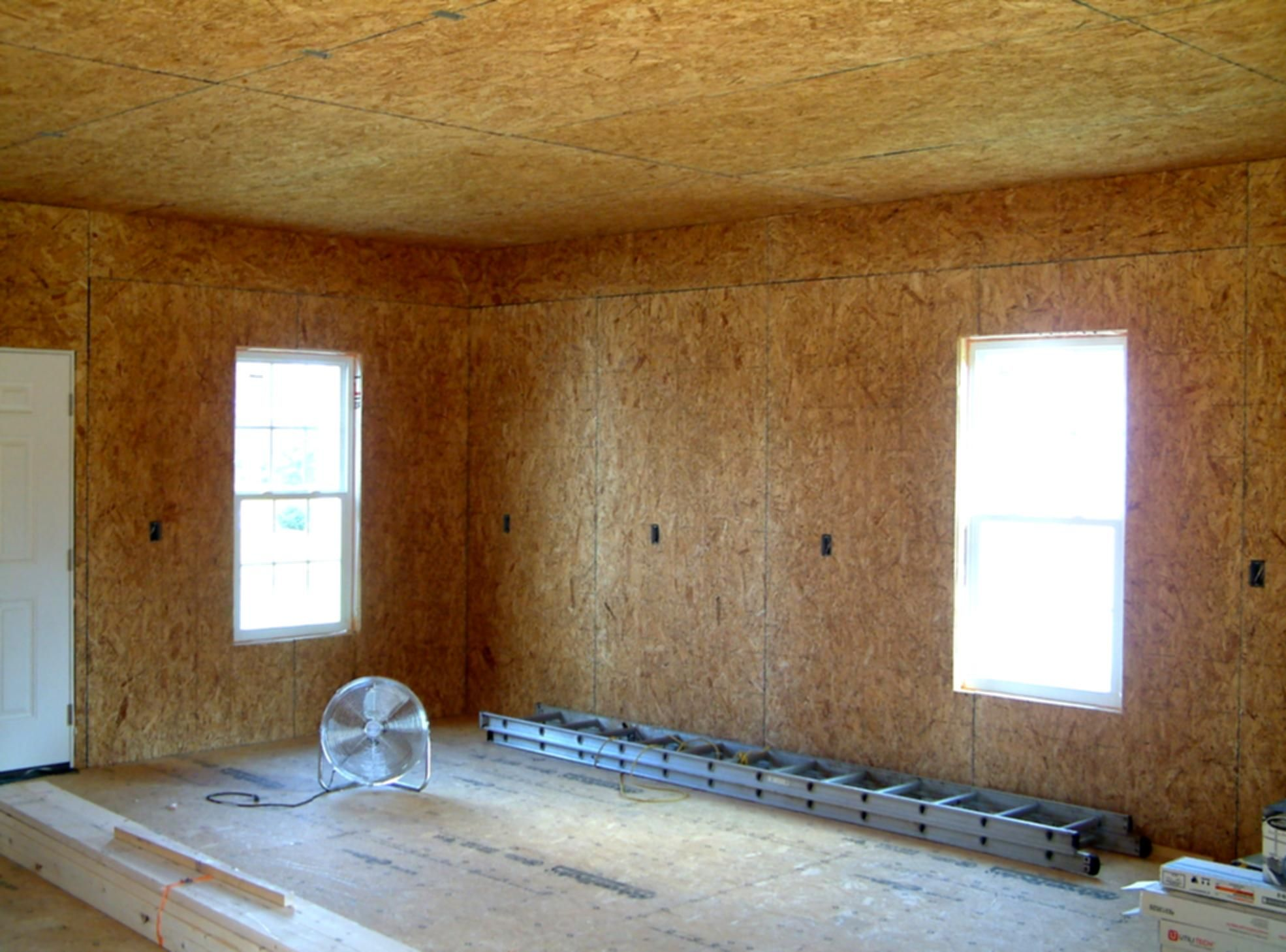 Osb interior garage walls for What size osb for exterior walls
