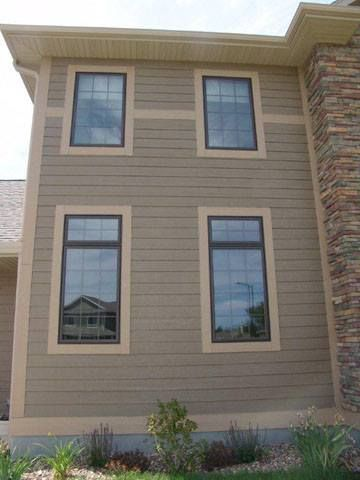 """Bedroom Intruder Exterior Remodelling lp smartside 8"""" lap siding pre-finished in diamond kote french"""