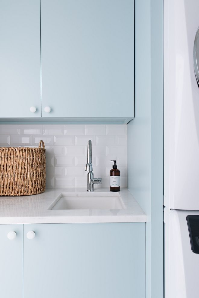 Laundry Room Backsplash Tile 2x4 Beveled Subway Tile Laundry Room