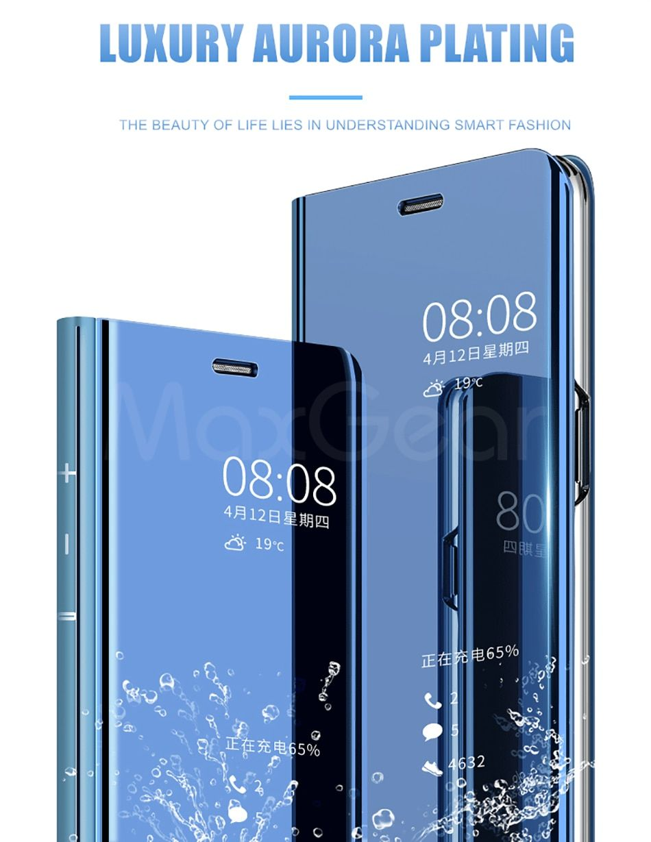 Mirror Flip Phone Huawei Mate 9 10 20 Pro Lite Smart Clear View Cover For Huawei P8 P9 P10 P20 Plus Pro Lite P Smart