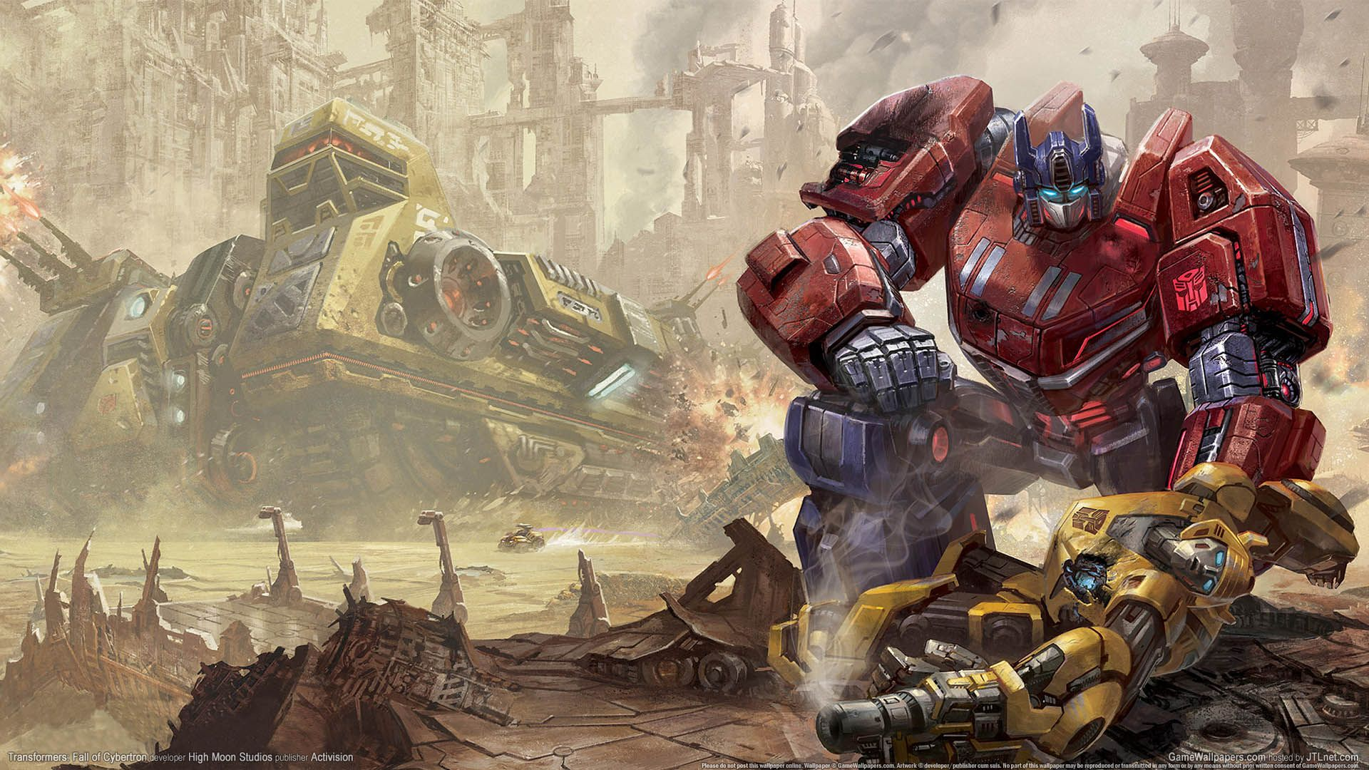 Transformers Fall Of Cybertron Wallpaper 01 1920x1080 Optimus