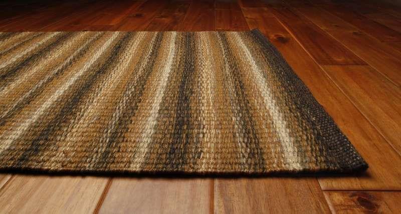 Green World Rugs, Laredo Jute Woven Rugs, Black U0026 Tan   Homespice Decor
