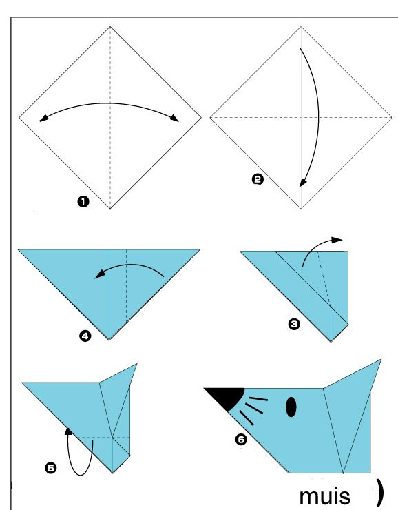 origami-muis vouwen | 17 arts and crafts origami diy projects