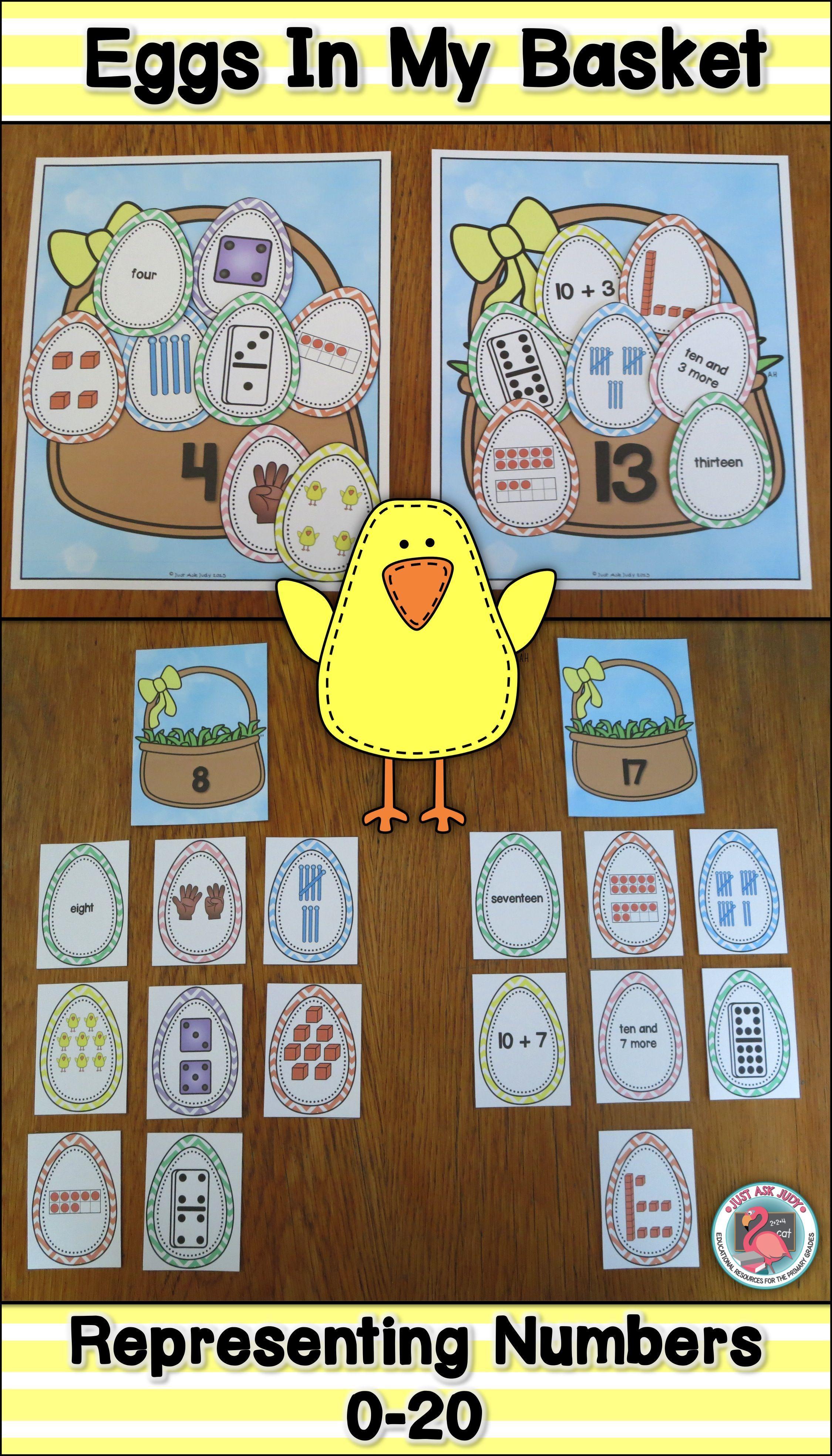 Number Sense Activity 0 20 Eggs In My Basket