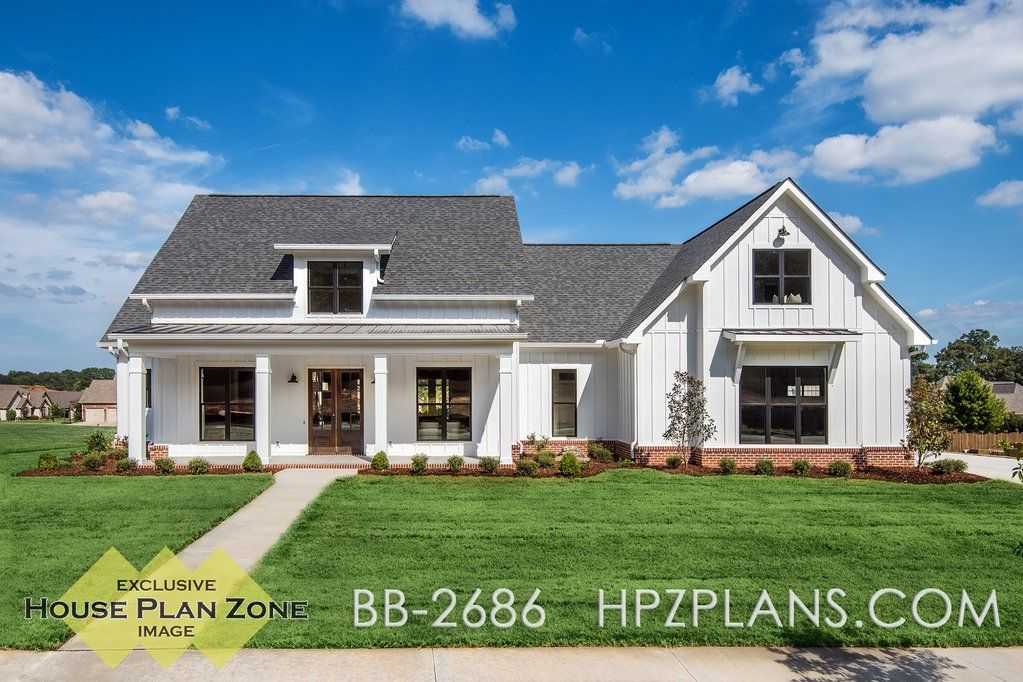 Theres no shortage of curb appeal for this beautiful 4 bedroom modern farmhouse plan visit our site for the newest farmhouse house plans