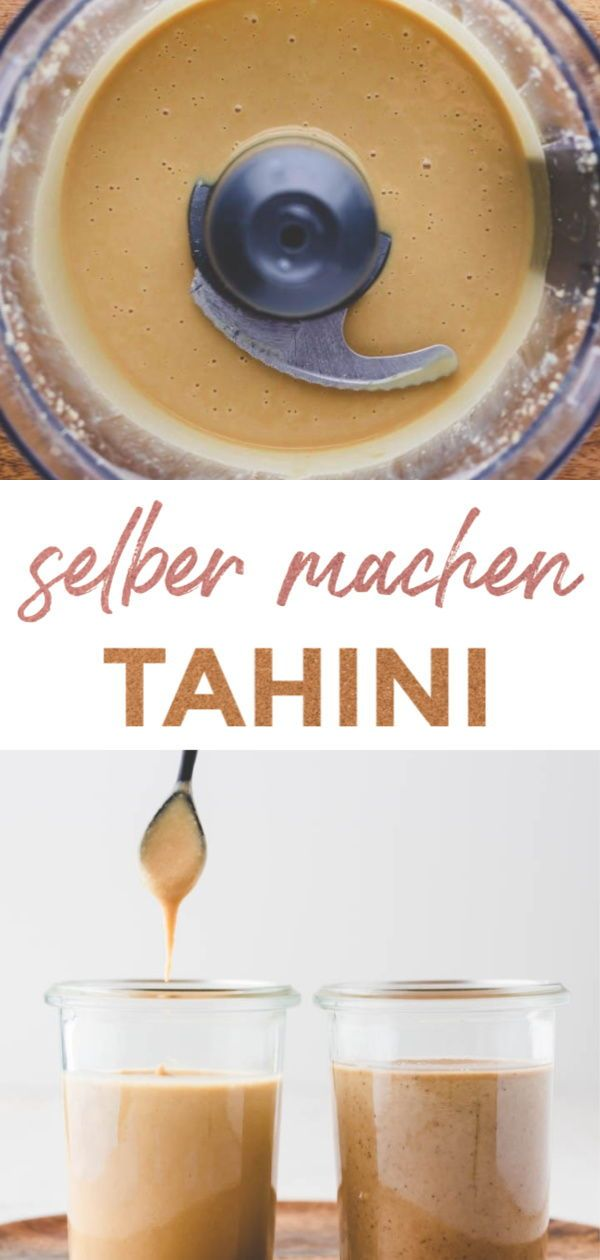 Tahini Paste   2 Varianten