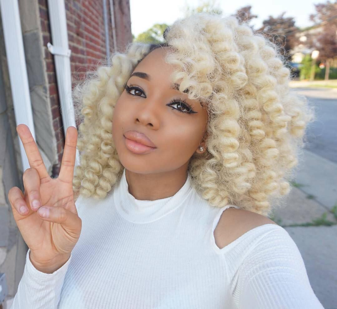 Image result for blonde crochet hair