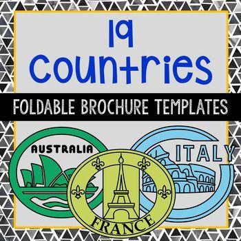 19 country brochure research template projects countries included australia brazil canada china egypt england france germany ireland israel