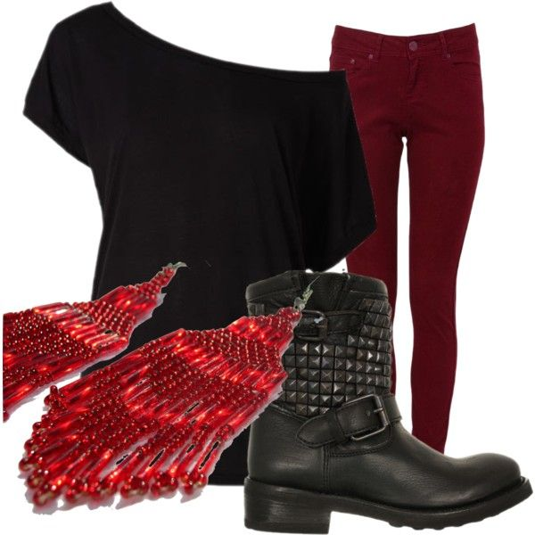 """red and boots"" by needalipglossboostinyouramerica on Polyvore"