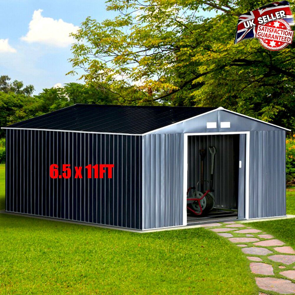 Details about Large Metal Shed Outdoor Heavy Duty Garden
