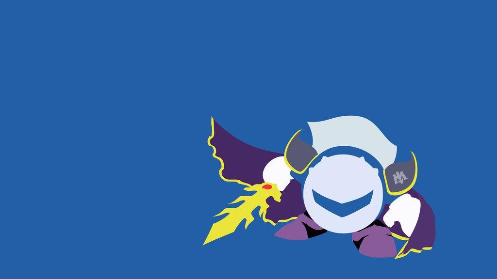 Minimalist Wallpaper Meta Knight (Kirby SSBB) by
