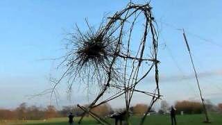 'Falling Man' Kunstveld Uffelte  installation together with Dutch artists