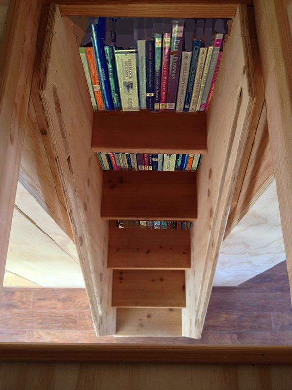 A Walk Through A Custom Weller Bookshelf Stairs Four