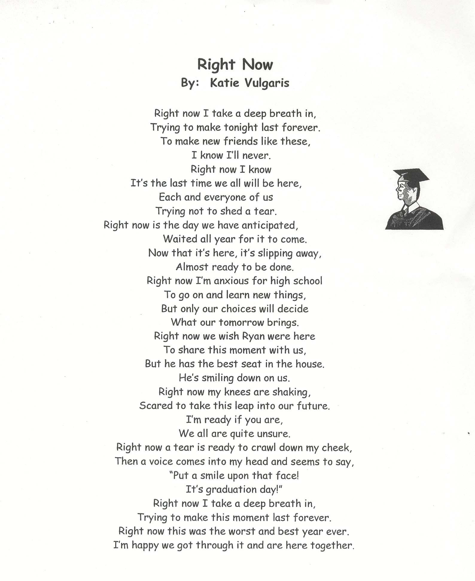 GraduatingThGradePoems  Graduation Poems  Print This