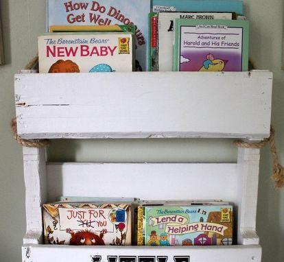 Diy Pallet Bookshelf For Kids Shelving Ideas Storage Palletfurniture
