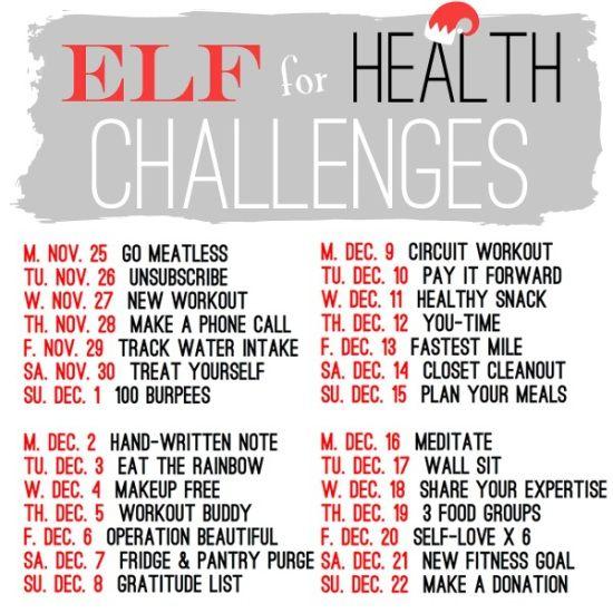 December health challenge