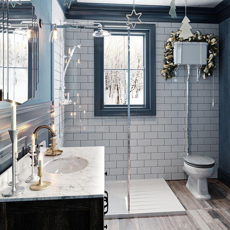 Bathroom Ideas: Enchanted Winter part 2 | Round mirror ...