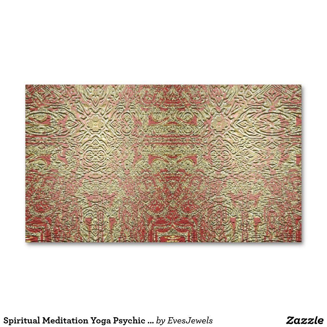 Spiritual Meditation Yoga Psychic Business Cards | Spiritual ...