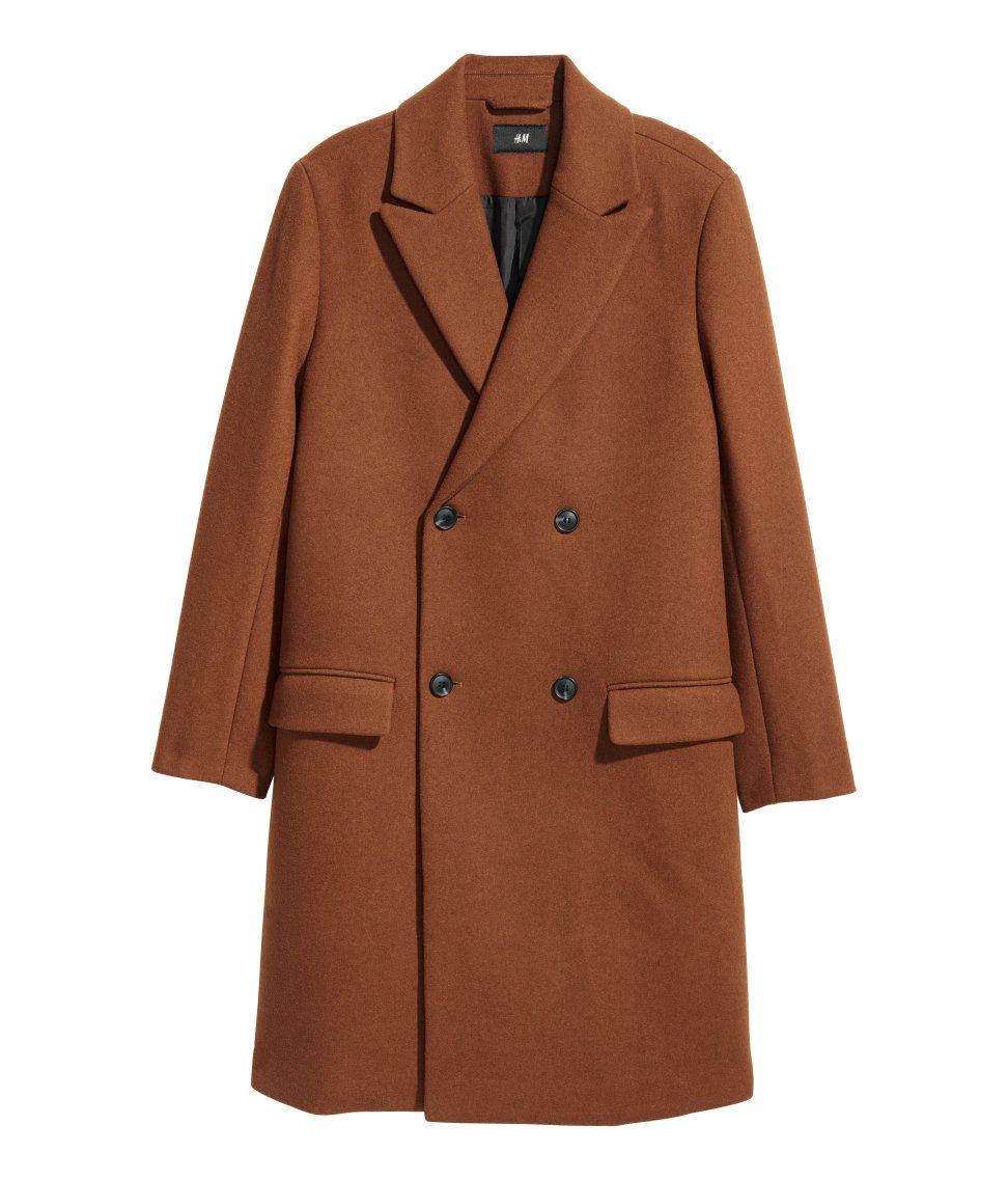 Mantel aus woll mix hm