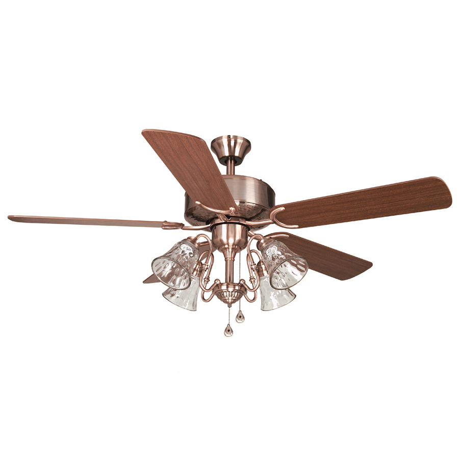 Harbor Breeze 52 In Dubois Brushed Copper Ceiling Fan With Light Kit At Lowes