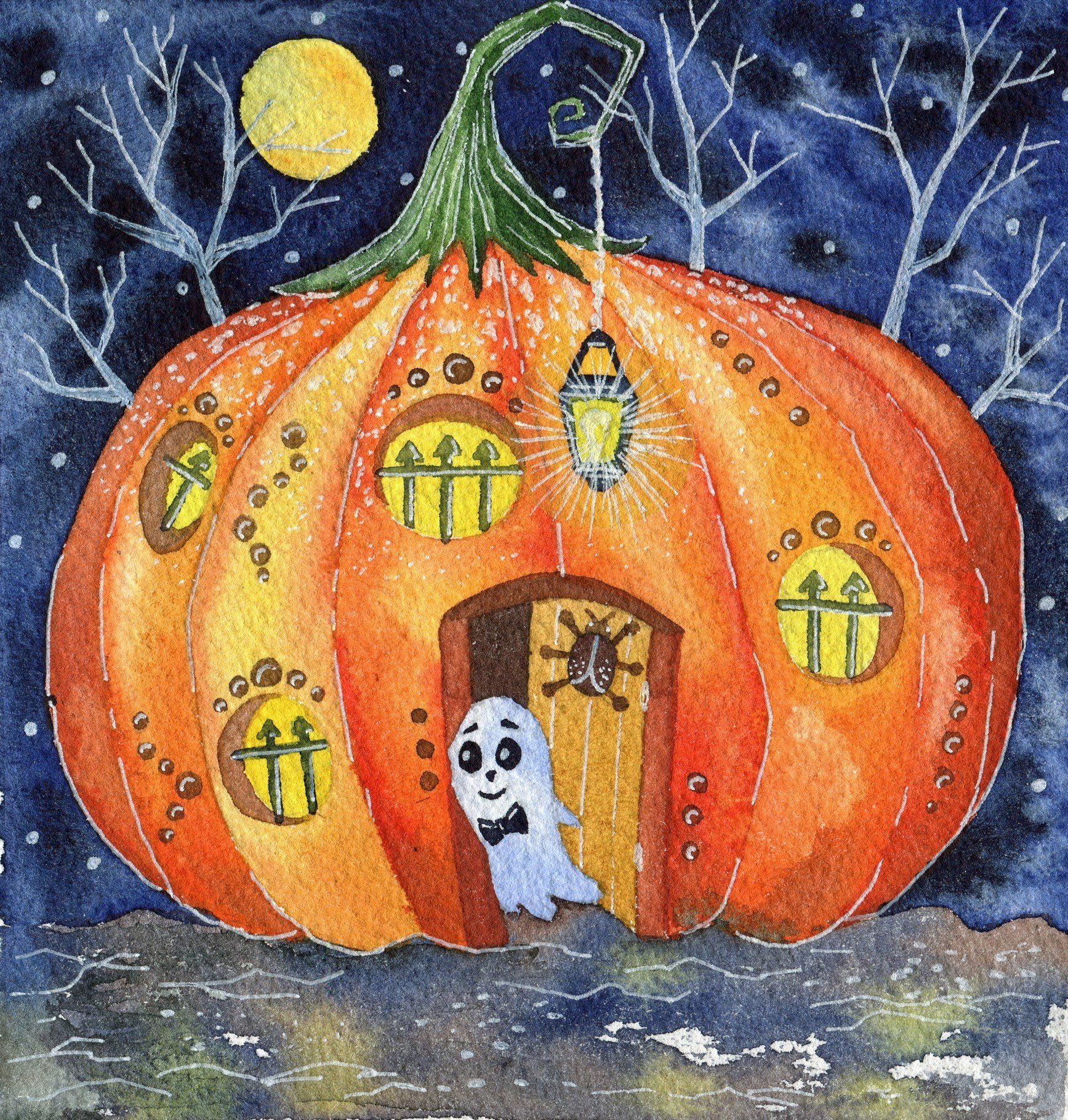 Halloween, watercolor set , Affiliate, elements