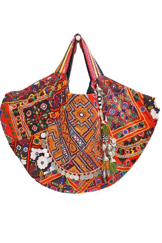 Colima - carry all bag - vintage textile ($ 1860 USD)