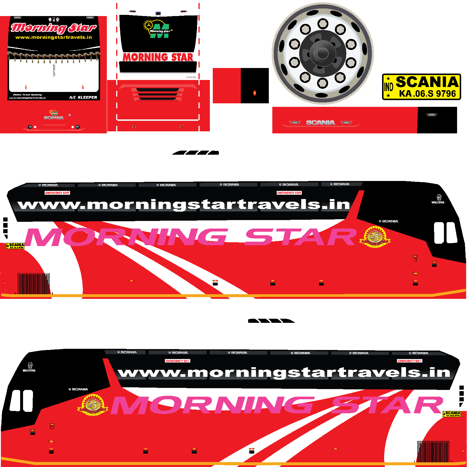 Bussid Morning Star Scania Livery Bus Simulator Indonesia Livery Download All Indian Bus Live In 2021 Morning Star New Bus Bus Living