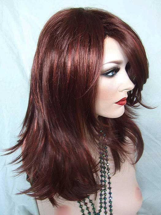 Nirvana Tarah Wig Dark Auburn Highlighted With Fox Red