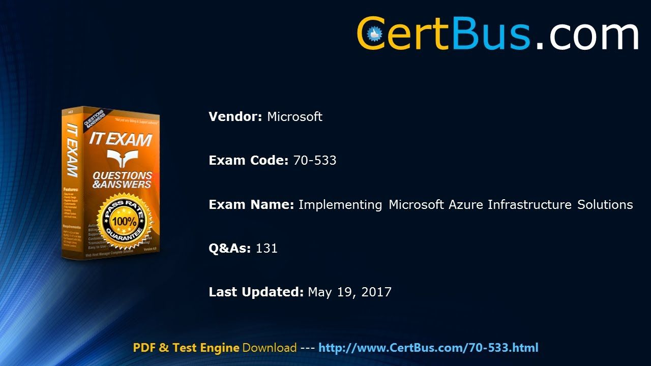 Pass guarantee 70 533 exam by taking certbus new microsoft 70 533 pass guarantee 70 533 exam by taking certbus new microsoft 70 533 vce an 1betcityfo Gallery
