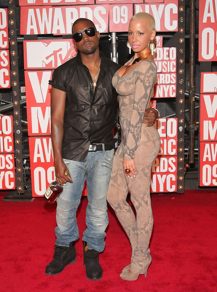Amber Rose 2009 The Most Daring Mtv Vma Looks Of All Time Livingly Amber Rose Kanye And Amber Rose Kanye West