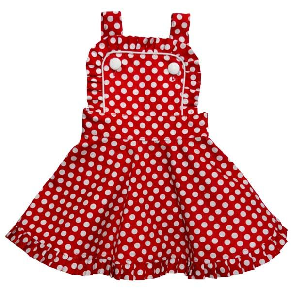 Audrey Dress Red Polka | Rock Your Baby | www.rockyourbaby.com