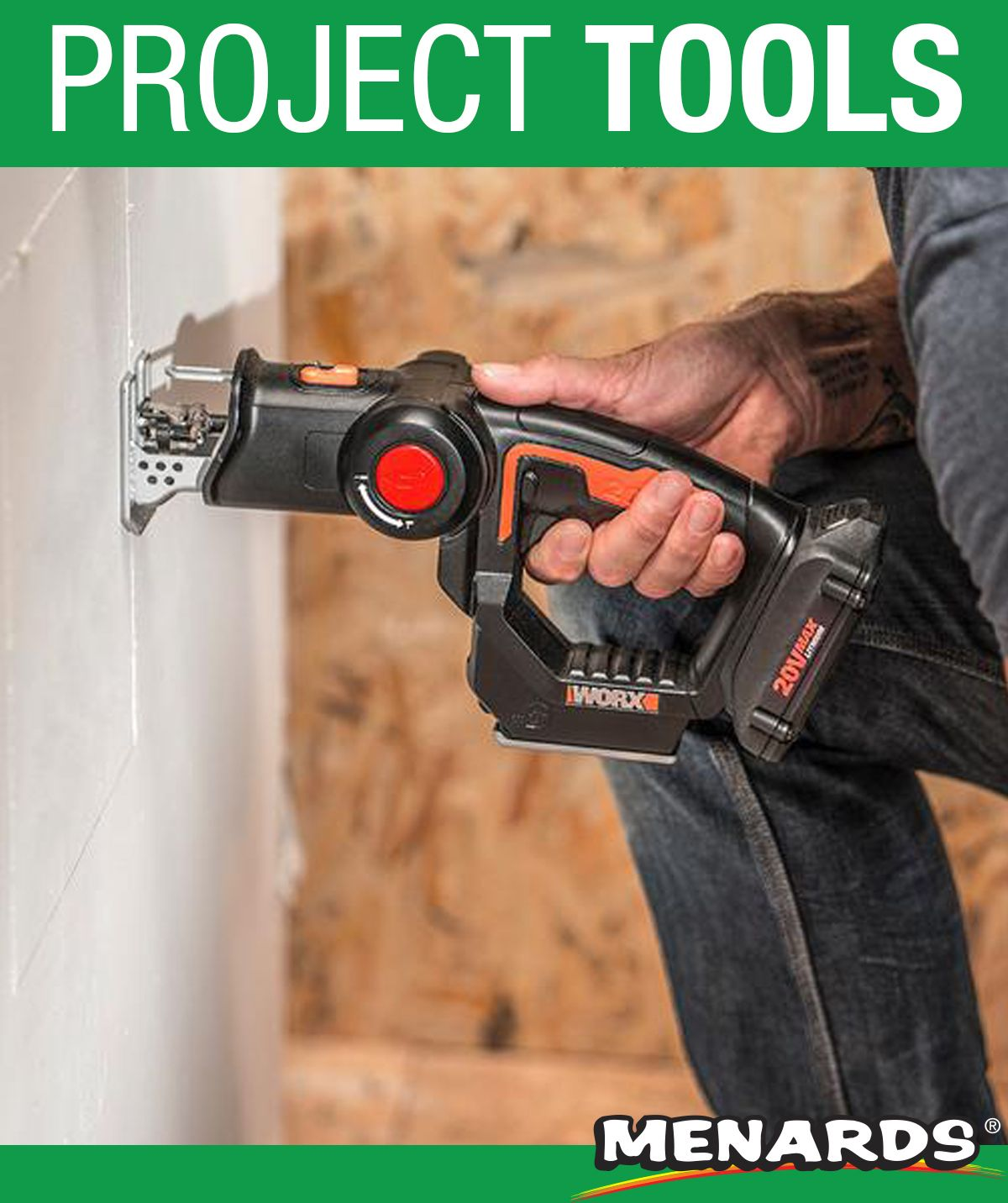 The Worx 20 Volt Axis Reciprocating And Jig Saw Features A Pivoting Head Design That Converts From A Reciprocating