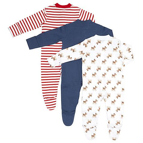 5304f37807 Buy John Lewis Baby Dog Print Sleepsuit
