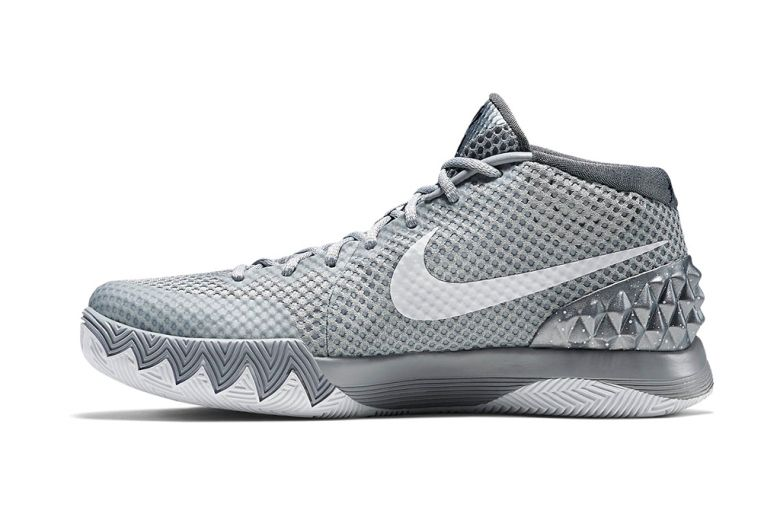 c61daad5fbe6 ... Irving Unveils the KYRIE 1 NIKEiD Shoe in Brooklyn Tonight  Everything  is awesome in Wolf Grey! ... Nike Kyrie 1 ...