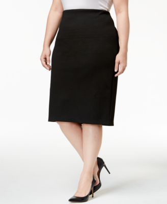 981e0829dbf Alfani Plus Size Textured Pencil Skirt
