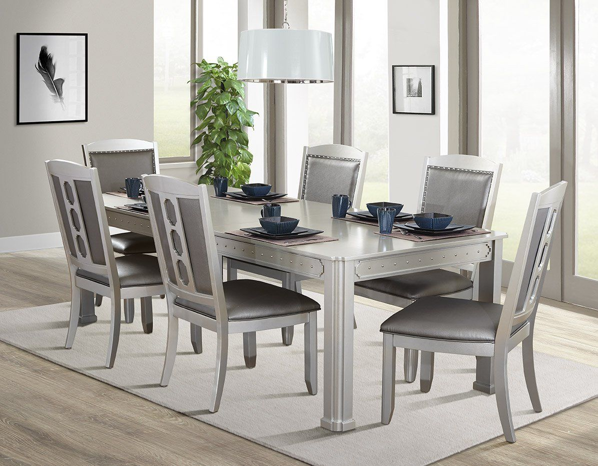 Sienna Classic 7pc Dining Room Set In 2019 Dining Table White