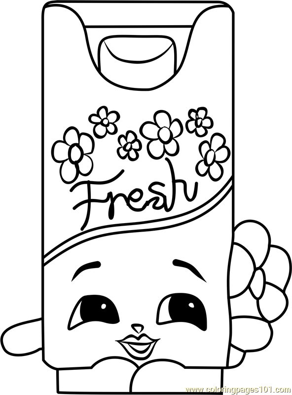 Bree Freshner Shopkins Coloring Page Shopkins Colouring Pages Shopkins Coloring Pages Free Printable Coloring Pages