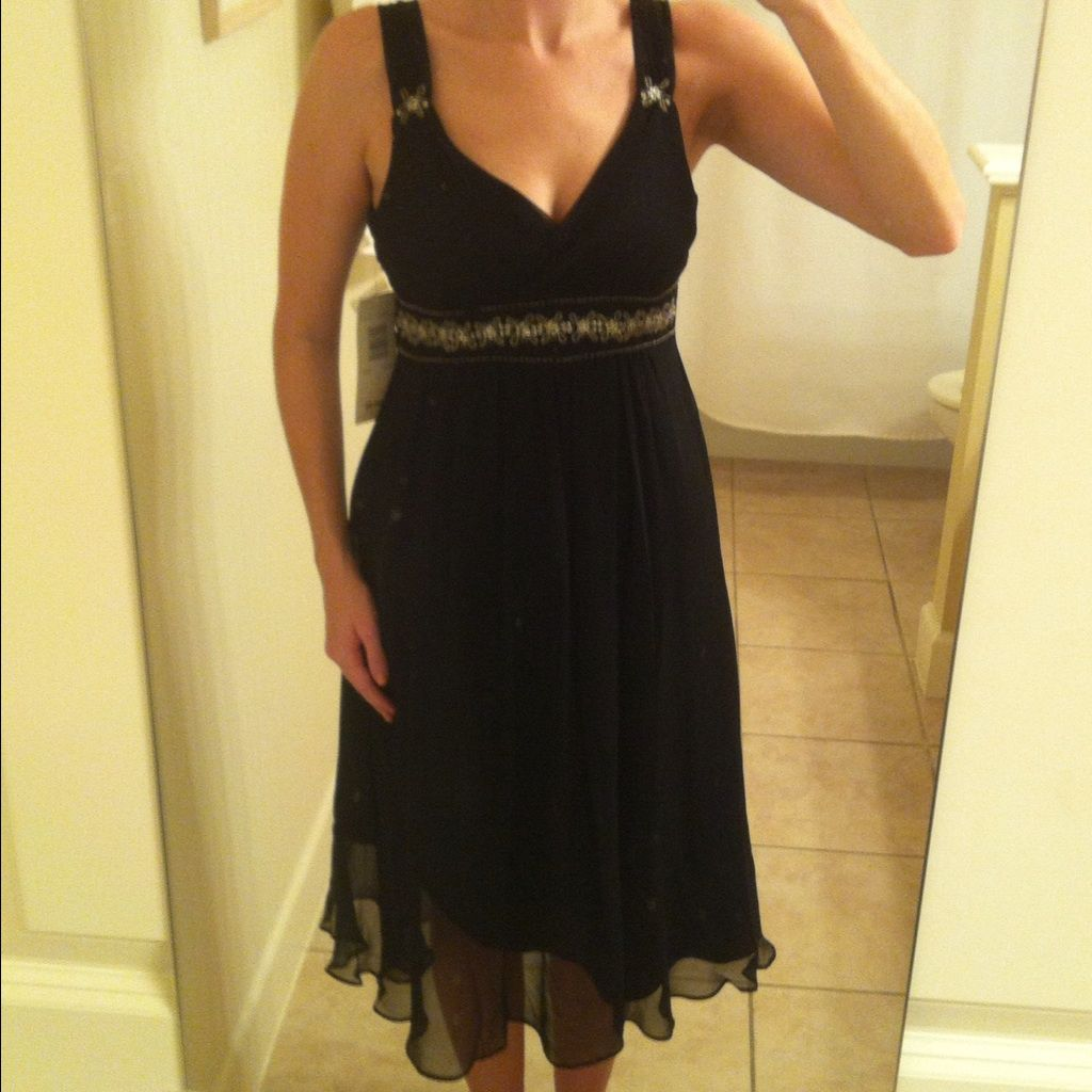 Black dress with embellishments nwt products